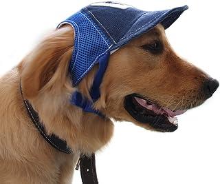 Pet Dog Baseball Cap Sport Cap Hat - Outdoor Hat Sun Protection Summer Cap for Small Medium Large Dog (Large Cap, Blue)