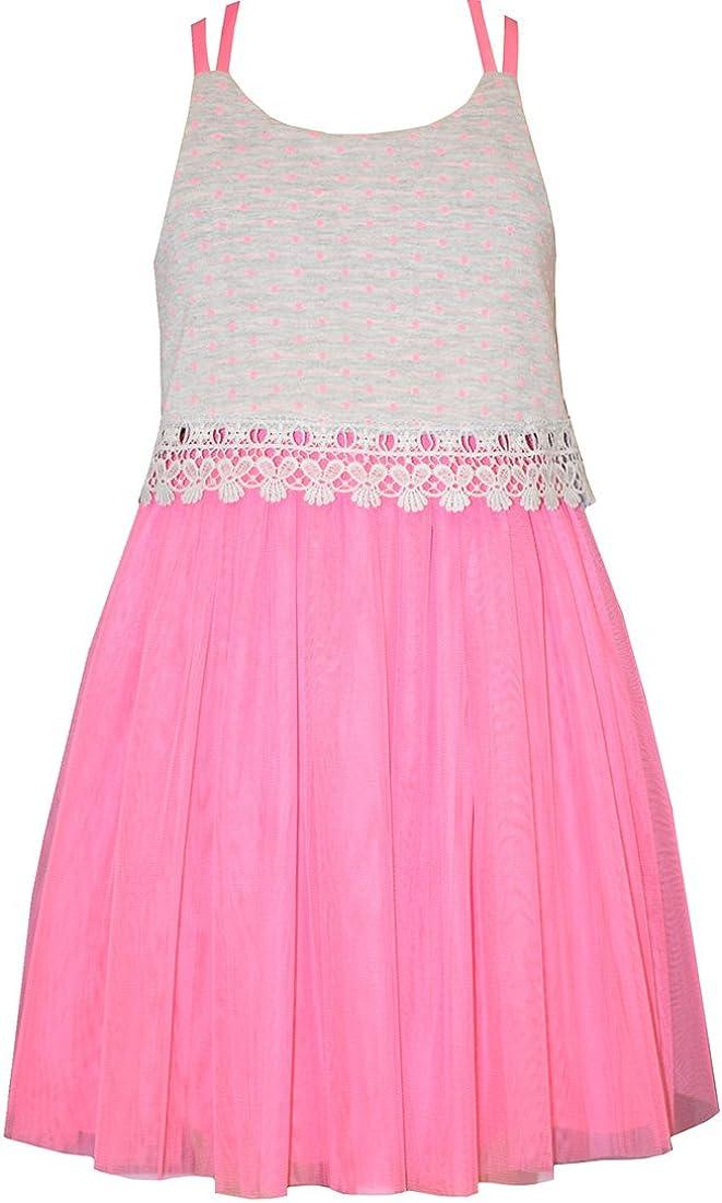 Bonnie Jean Little Girls Pink Lace Tulle Sundress 5