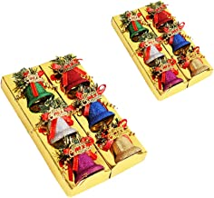 KESYOO 12pcs Christmas Tree Hanging Decoration Christmas Sleigh Bells Hanging Decor Seasonal Jingle Bells Ornament for Xma...