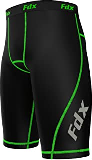FDX Mens Compression Shorts Sports Briefs Skin Tight fit Gym Pants Base Layers