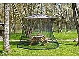 Schutz,Moskitonetz für Sonnenschirme, 330 x 250 cm, 220 Mesh, schwarz
