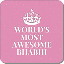 Family Shoping Birthday Gifts for Bhabhi Worlds Most Awesome Bhabhi Fridge Magnet Home Kitchen Office Décor