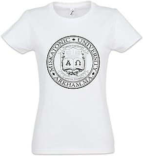 Vendax Miskatonic University Crest Unisex Baseball T-Shirt Manches 2//3 Homme Femme Blanc Noir