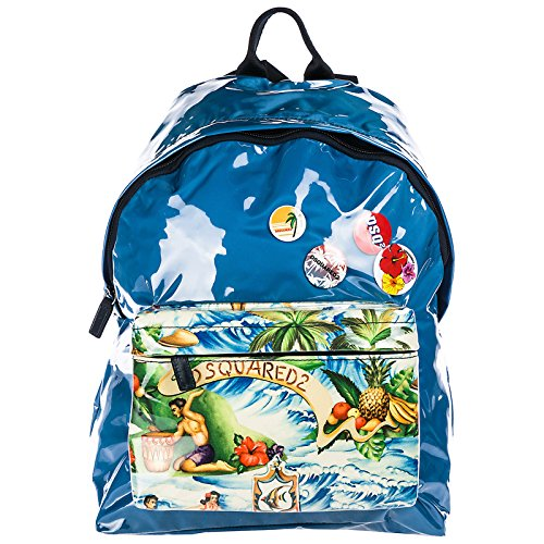 DSQUARED2 herren hawaiian rocker hawaii island Rucksack azzurro