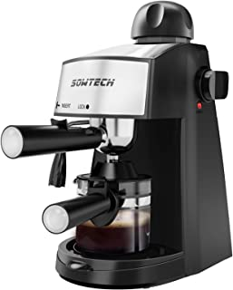 SOWTECH Espresso Machine, 3.5 Bar 4 Cup Steamer Coffee Maker Cappuccino Machine with Milk Frother Wand for Espresso, Cappu...