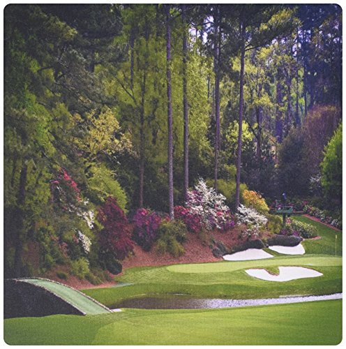 3dRose LLC 8 x 8 x 0.25 Inches Mouse Pad, Augustas Amen Corner Golf Course Golfers On Bridge (mp_131410_1)