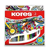 Kores–bb93350lápices de colores 50colores surtidos por paquete