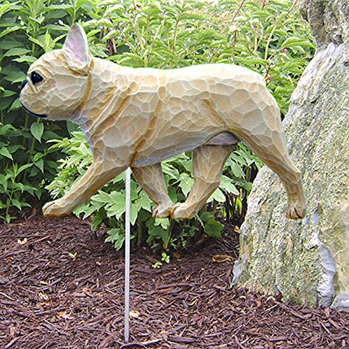 French Bulldog Outdoor Garden Dog Sign Hand Painted Figure Fawn