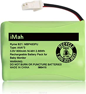 iMah Ryme B21 Battery Compatible with Motorola Baby Monitor MBP33XL (only fits MBP33S MBP36 MBP36S newer 800mAh version) M...