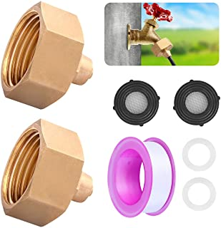 """Cairondin 2 Pack Garden Hose Adapter, 3/4'' to 1/4'' Solid Brass Garden Hose Connector, Convert 3/4"""" Garden Faucet/Hose to..."""