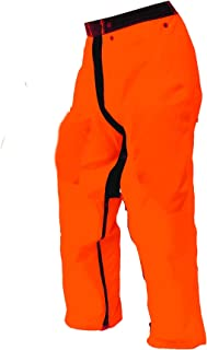 Forester Chainsaw Safety Chaps - Full Wrap Zipper - Orange (Short (35