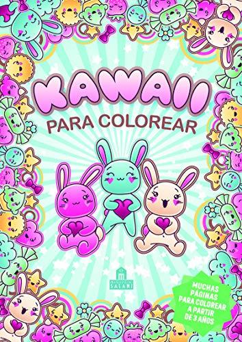 Kawaii para colorear (Libros para colorear)