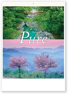 新日本カレンダー 2021年 カレンダー 壁掛け PURE~癒やしの日本風景~ NK34