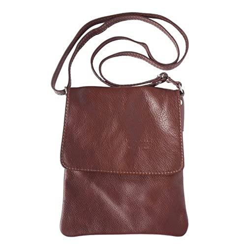 c41cbc6989 LaGaksta Ashley Very Small Italian Soft Leather Shoulder Crossbody Bag Brown