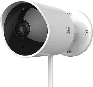 YI Cámara de Vigilancia WiFi Exterior 1080P Cámara IP Interior/Exterior Impermeable IP65 Detección de Movimiento, 2 vías A...