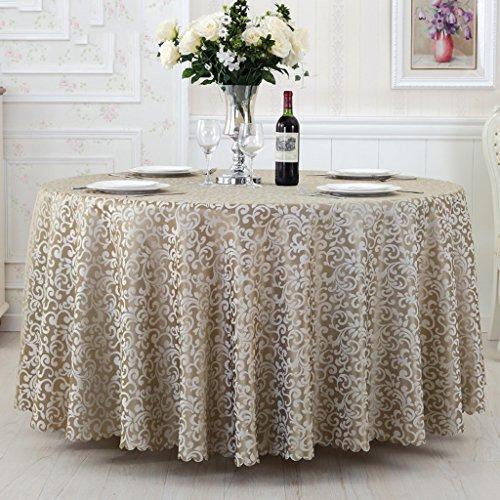 Nappes Nappe ronde, tissu d'hôtel Nappe de restaurant simple Nappe ronde de salon ( Couleur : Gris , taille : Round-300cm )