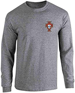 Portugal Soccer Retro National Team Football Full Long Sleeve Tee T-Shirt