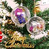 AGM 20PCS Boules de Noël 5cm Transparentes à Remplir en Plastique, Boules Acrylique de Décoration, Idéal pour Arbres de Noël, Fête, Vacances de Noël, Mariage