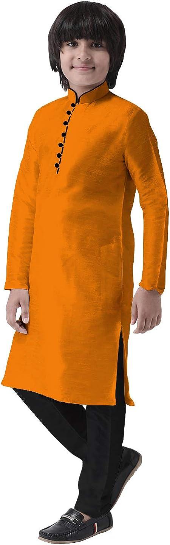 Cellora Boys Max 47% OFF Kids Kurta Pajama Super sale period limited Set Tradi Silk Tunic Dupion Dress