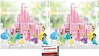 (2 Pack) Disney Princess Castle Table Centerpiece Decorations Deluxe Bundle (Plus Party Planning Checklist by Mikes Super Store)