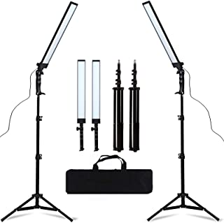GSKAIWEN LED Light Photography Studio LED Lighting Kit Adjustable Light with Light Stand Tripod Bag Photographic Video Fil...