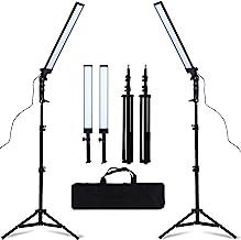 کیت روشنایی نور استودیو GSKAIWEN 180 LED استودیو LED نور قابل تنظیم با پایه ایستاده نور سه پایه عکس عکاسی پر نور
