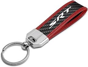 iPick Image for SRT-8 Logo Piston Style Chrome Metal Key Chain for Dodge Jeep RAM Chrysler