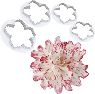 Honmofun Peony Cutters Edible Flower Cake Toppers Edible Flowers Cake Decorations Peony Flower Cutter Peony Petal Cutter Peony Fondant Sugarcraft Cake Cookie Peony Cutter Peony Cutter Set