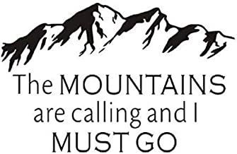 Wall Stickers Muursticker The Mountains are Calling and I Must Goliving Room Removable Hot Vinyl Art Decals Home Decor 91x58cm
