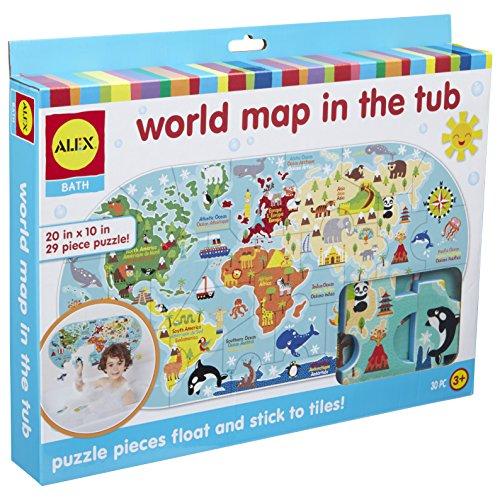 Alex - Mapa del Mundo en el baño Janod 200020