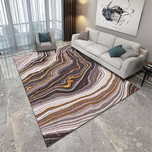 Alfombra Alfombra Cuarto Alfombra de Rayas marrón Gris Negro Antideslizante y Resistente a la decoloración Sala Alfombra Dormitorio Juvenil alfombras para escaleras 60*160cm