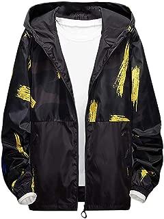 Men's Windbreaker Jacket,Men's Lightweight Windbreaker Winter Jacket Water Resistant Shell Outwear Coat with Pockets