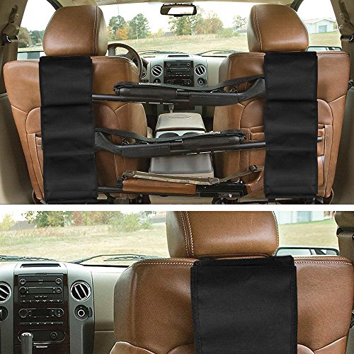 GVN Car Concealed Seat Back Gun Rack to Hold 3 Rifles for Rifle Hunting Fits Most Sedans SUVs Pickup Mini Vans Jeeps in Pair Black