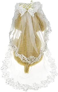 FLAdorepet Dog Wedding Veil for Small and Large Dogs Pet Bride Outfits