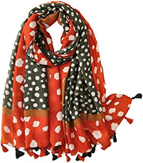Women Winter Tassels Shawls Scarf - Leopard Print Lightweight Long Autumn Muffler Pashmina Neckerchief Ladies Soft Stole Birthday Party Wedding