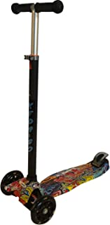 KEDA-GO Kids Kick Scooter Ages 6-12, Adjustable Height, Wide Deck, with LED Light up Wheels