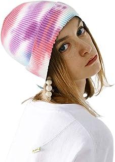 بوهيند شتاء محبوك قبعة صغيرة دافئة مصبوغ قبعة قبعة صغيرة لينة تمتد كابل اكسسوارات الشعر للنساء والفتيات الأبيض