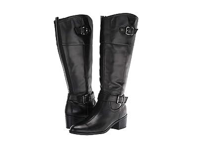 Bandolino Pries Wide Calf (Black Leather) Women