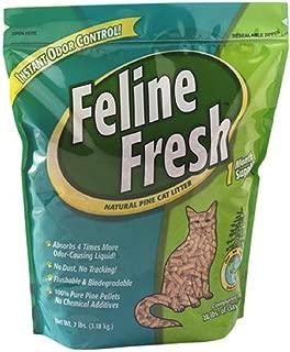 PACK OF 9 - Feline Fresh Natural Pine Cat Litter, 7 lb