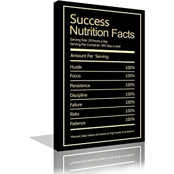 Amazon Com Success Nutrition Facts Canvas Print Motivational Wall Office Decor Modern Art Inspiration Decoration Inspirational Entrepreneur Motivation 12x18 Posters Prints