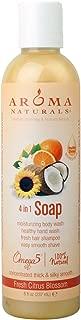 Aroma Naturals Extraordinary Natural 4-in-1 Castile Liquid Soap, Fresh Citrus Blossom, 8 Ounce