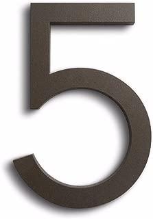 Modern House Number - Bronze Powder Coat - Modern Font 6