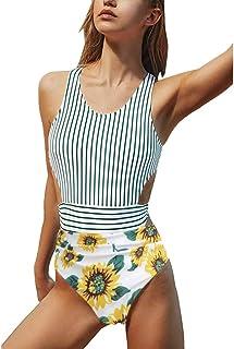 Zonnebloem voor de badkamer, eendelig, monokini, body, zwemkleding, zonnebloemen, ruched