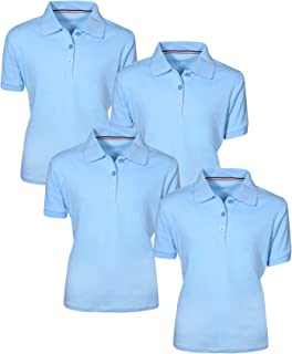 Girl's Uniform Polo Short Sleeve Interlock (4 Pack)