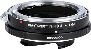 K&F Concept レンズマウントアダプター KF-NGM (ニコンFマウント(Gタイプ対応)レンズ → ライカMマウント変換) 絞りリング付き