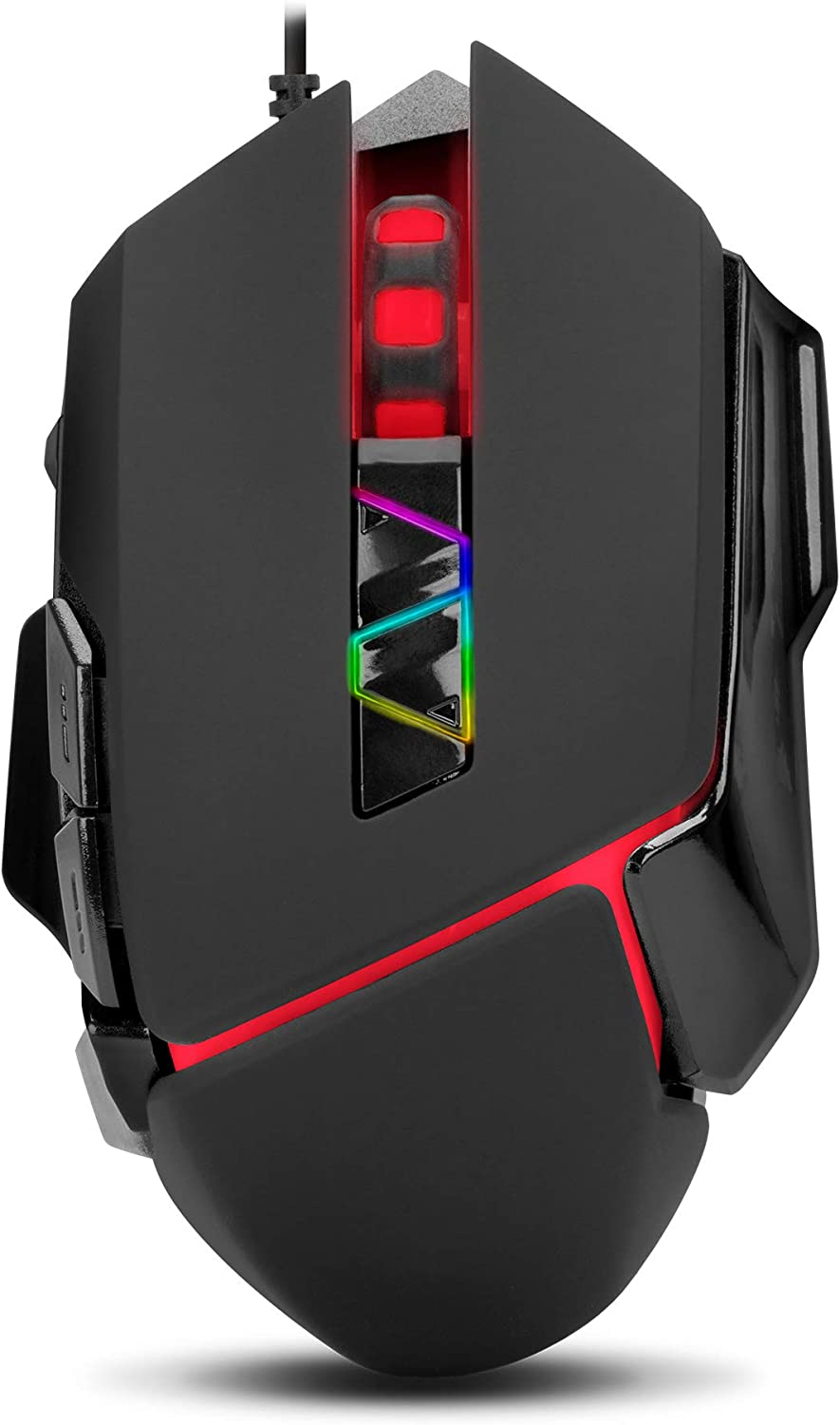 Samurai 7200 DPI Ergonomic USB Wired Gaming Mouse with 5G Optical Sensor - Works with Mac or PC Laptops and Computers