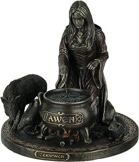 Veronese Ceridwen - Celtic Goddess of Knowledge with Cauldron Statue