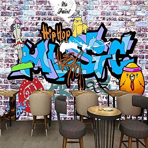 WWMJBH behang zelfklevend 3D-wandbehang handbeschilderde wand graffiti-kunstwand woonkamer café bar muur kunstkamer woonkamer tv achtergrond behang decoratie 520x290 cm (BxH) 11 Streifen - selbstklebend