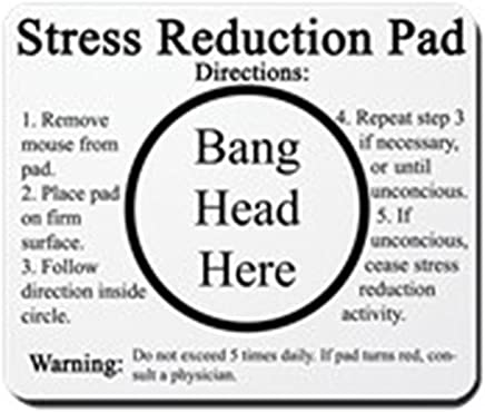 CafePress Stress Reduction Non-Slip Rubber Mousepad, Gaming Mouse Pad