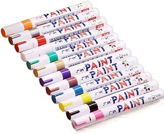 12-colors multiusos juego de rotuladores impermeable neumático Metal y vidrio tela pintura rotulador para diseño de animación dibujo arte bolígrafo con funda de transporte